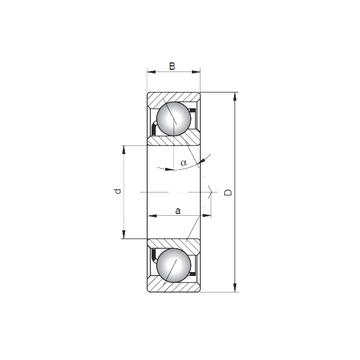 7016 C ISO Angular Contact Ball Bearings